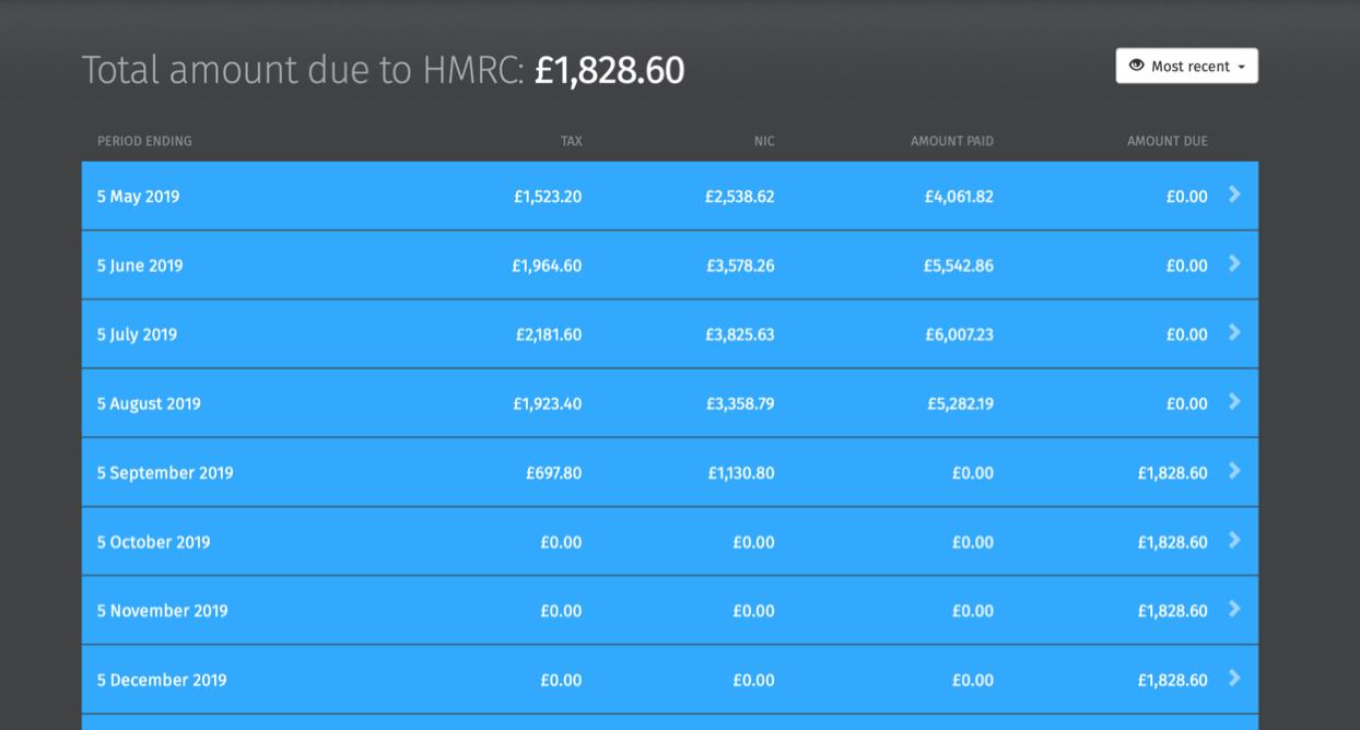 hmrc payments