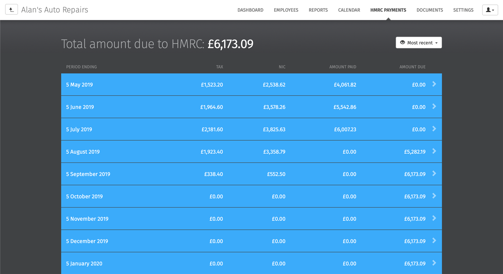 hmrc payments