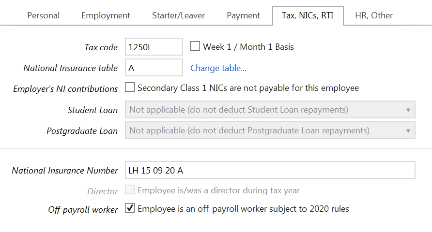 Track off-payroll workers in payroll software